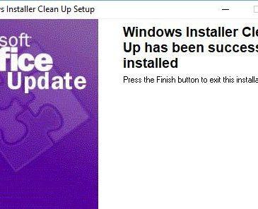 windows installer cleanup utility