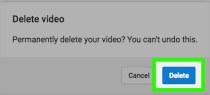 delete youtube vdieo permanently