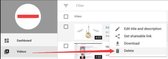 delete youtube videos