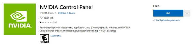 download nvidia control panel in microsoft store