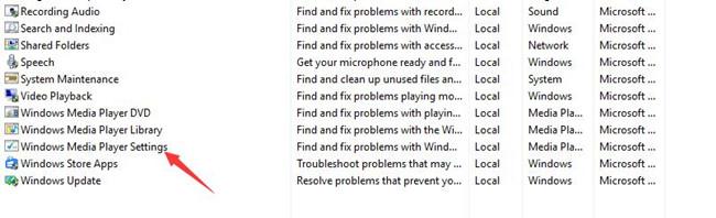 windows media player settings troubleshooter