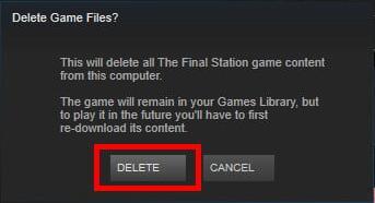 delete game files