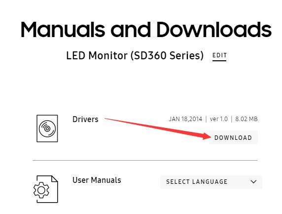 download samsung led monitor sd360 series drivers