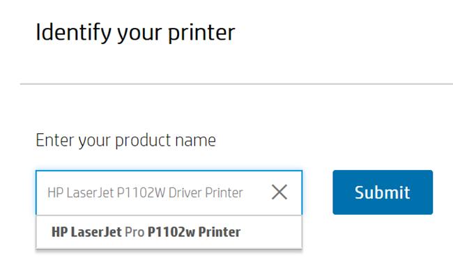 hp laserjet p1102w identify