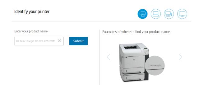 identify printer model