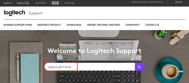 logitech g933 drivers search