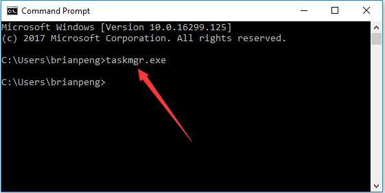 taskmgr.exe open task manager