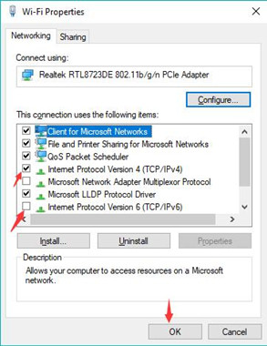 use internet protocol version ipv4