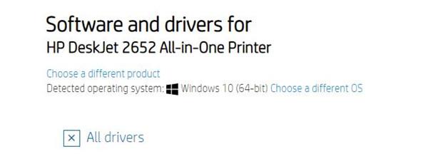 download hp deskjet 2652 printer driver on hp site