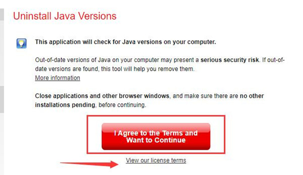 download java uninstall tool