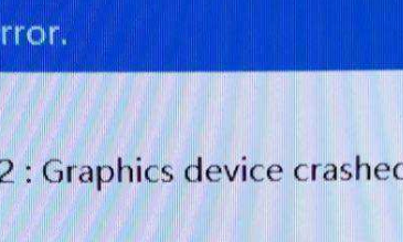 mhw err12 graphics devices crashed