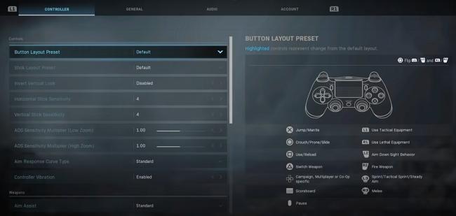 modern warfare settings account
