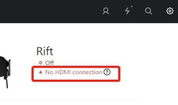 oculus rift hdmi no connection