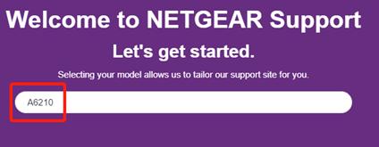 search a6210 netgear support