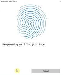 configure fingerprint