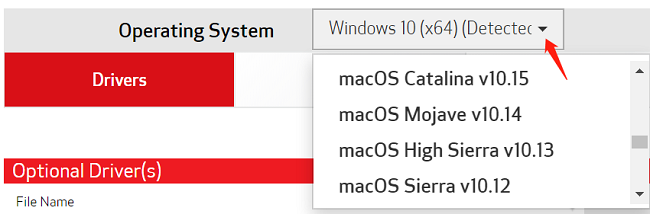 mg2522 operating system options