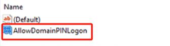 new key allow domain pin logon