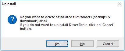 delete driver tonic associated files