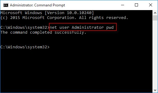 reset password with command