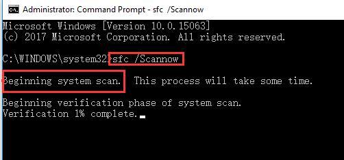 begin sfc system scan