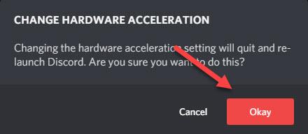 okay change hardware acceleration