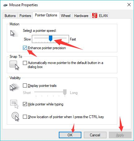 select mouse pointer