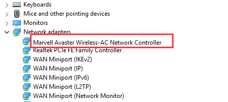 download marvell avaster wireless ac network controller driver