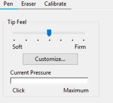pen pressure not working
