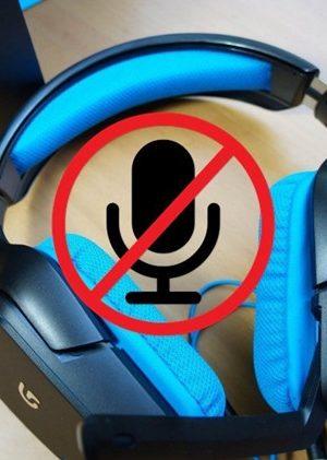 logitech g430 mic not working