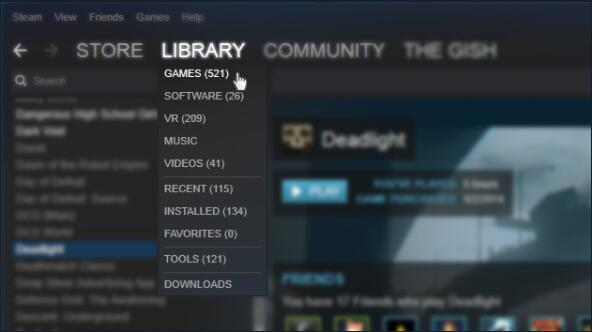 library games on steam