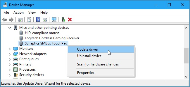 update synaptics smbus touchpad driver