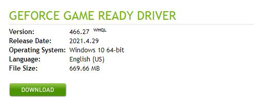 manually download geforce 1070 driver