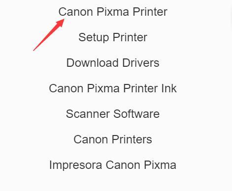 canon pixma printer on canon site