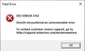 dev error 5763