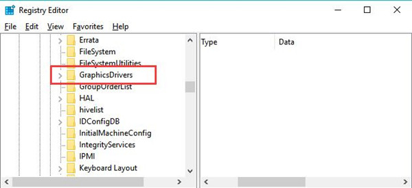 graphics driver key in registry editor