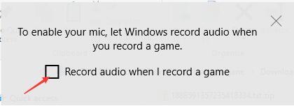 record audio when i record a game