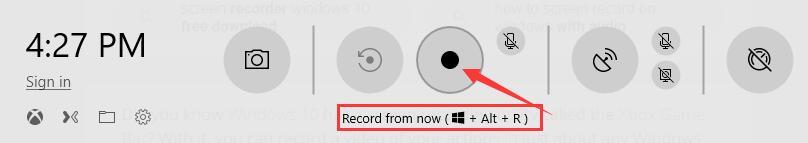 start recording in game bar