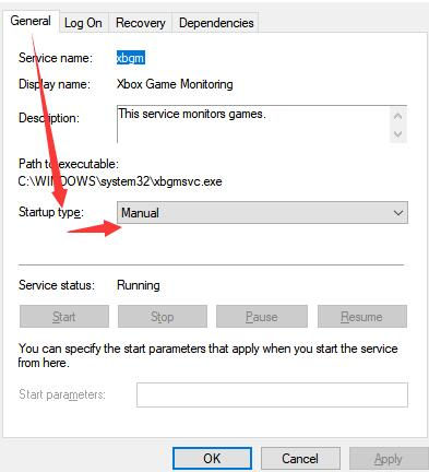 set windows driver foundation service manual or disabled